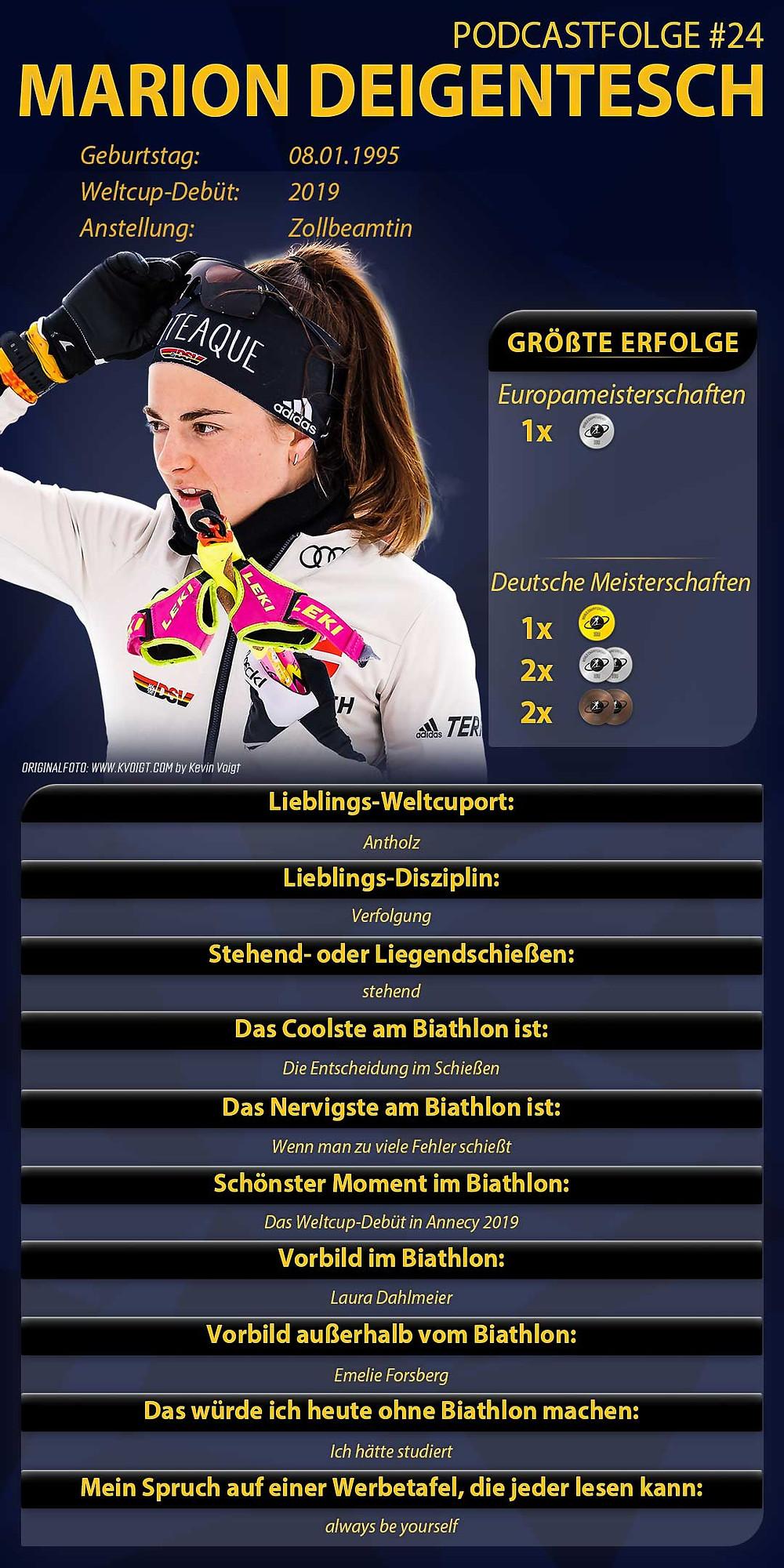 Marion Deigentesch ist zu Gast im Biathlon Podcast Extrarunde. Erfahre in Folge 24 alles über sie und ihre Ziele im Biathlon