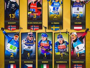 Siegerinnen der Weltcupeinzelrennen im Biathlon 2020/21