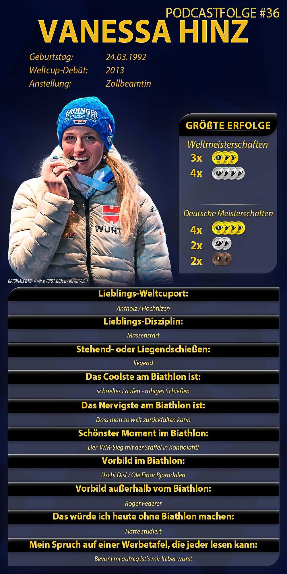 Vanessa Hinz, die Silbermedaillengewinnerin aus Antholz ist zu Gast beim Biathlon Podcast Extrarunde.