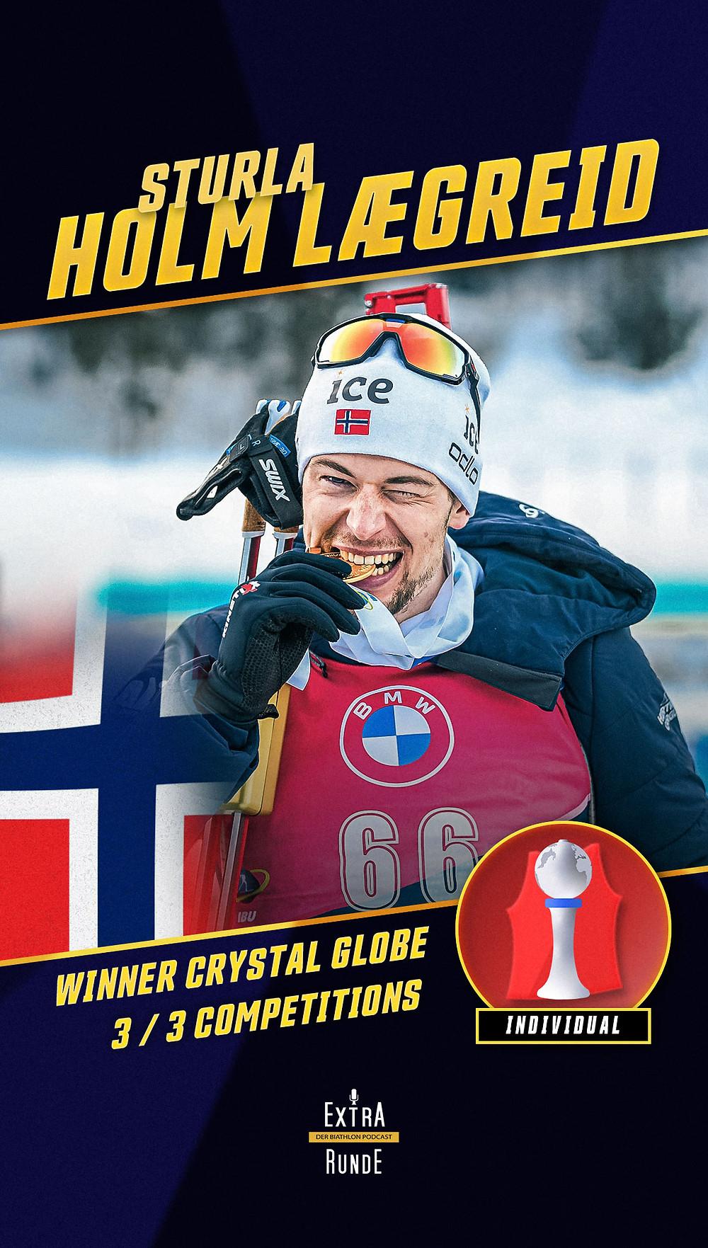 Sturla Holm Lægreid gewinnt die Biathlon Einzelwertung in der Saison 2020/21