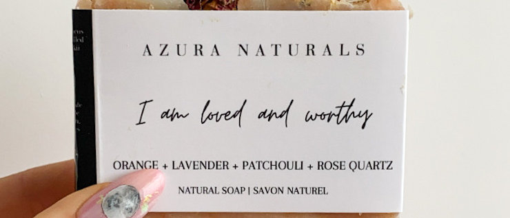 I AM Loved & Worthy Rose Quartz Soap