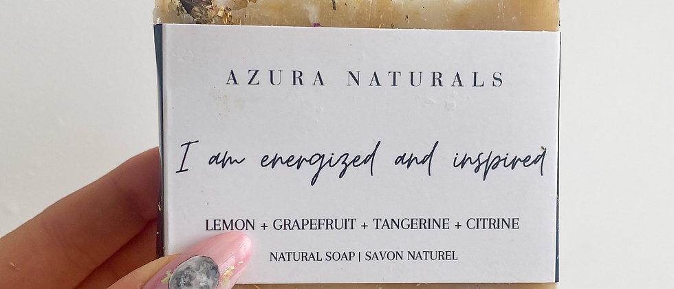 I AM Energized & Inspired Citrine Soap
