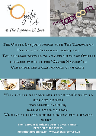 The Oyster Lab joins forces with The Senate Bistro on the 15 and 29th of June. You can loo