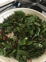 Chard and apricots