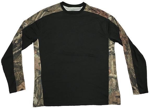 Pieced Camo Crew Long Sleeve Shirt