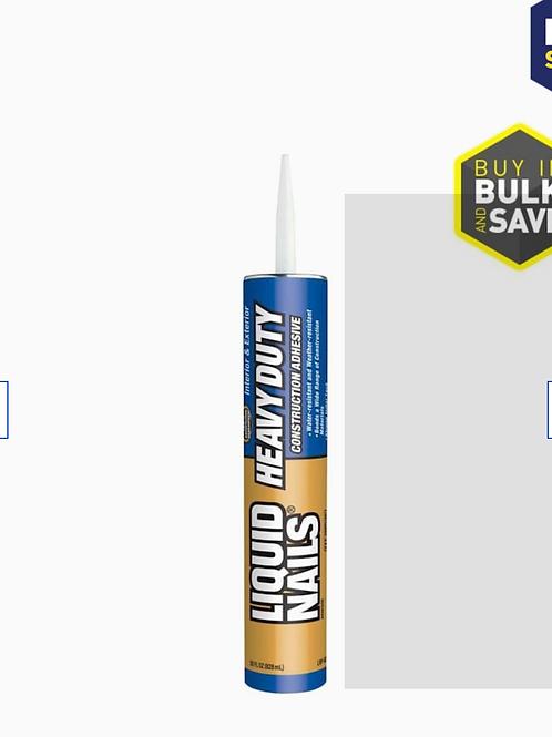 28-fl oz Heavy Duty Construction Adhesive; Needed: 12 tubes