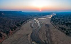Runde aerial sunset