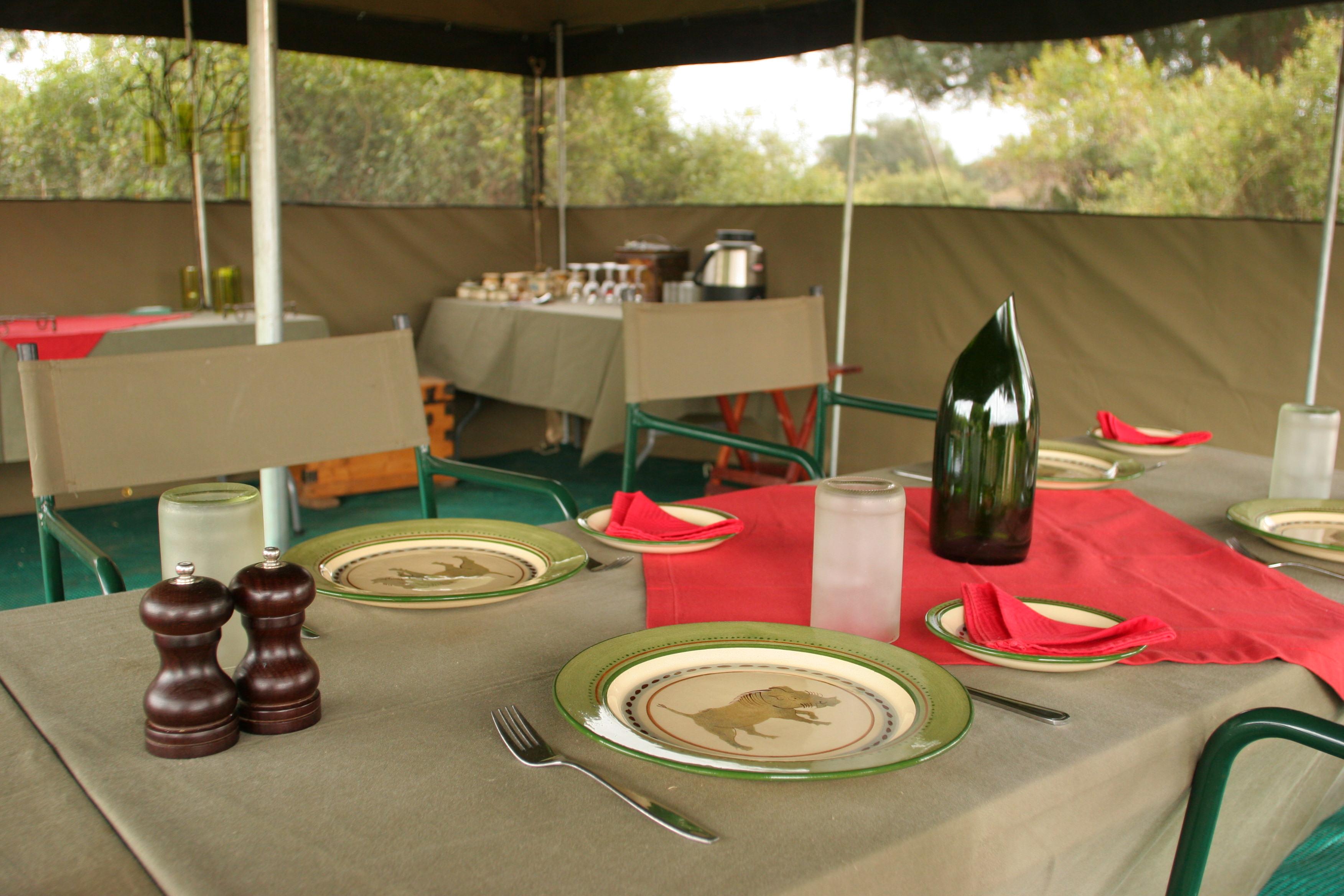 Dining Tent interior