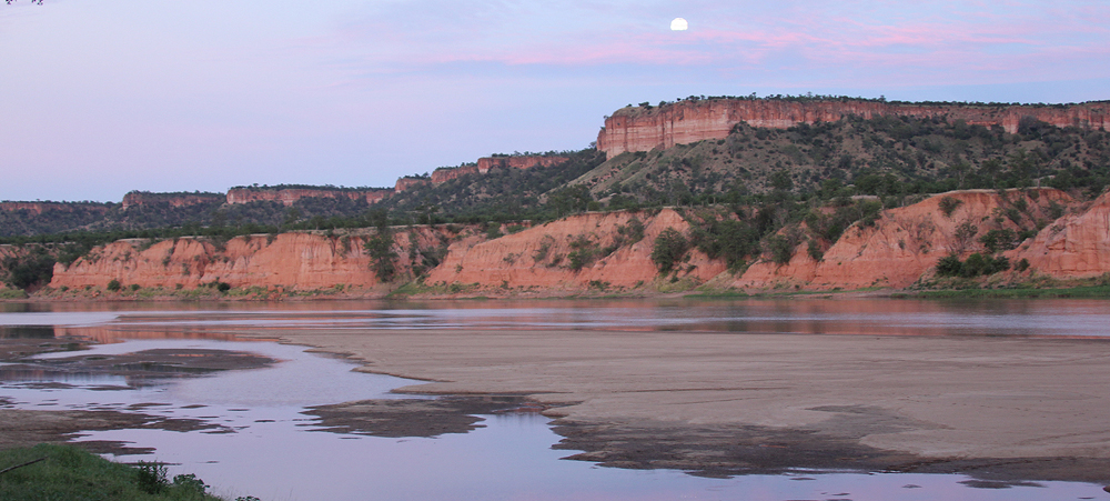 Full moon at Chilojo picnic site