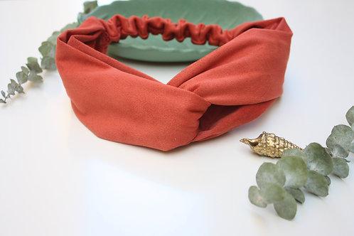 Headband Sansa Terracotta soyeux