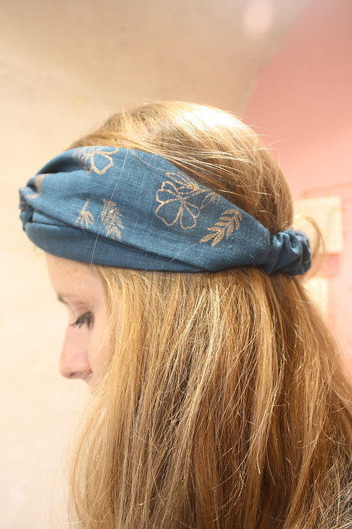 Headband peinture Bleu Paros