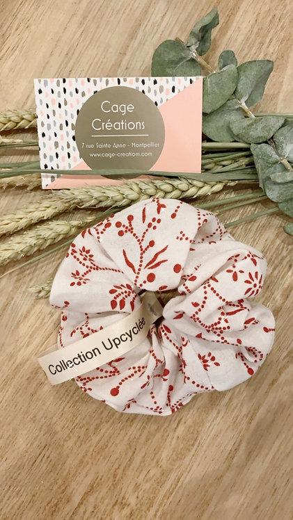 Chouchou fleuris rouge