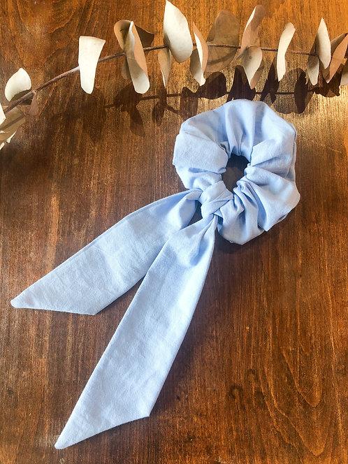 Chouchou ruban Bleu Ciel