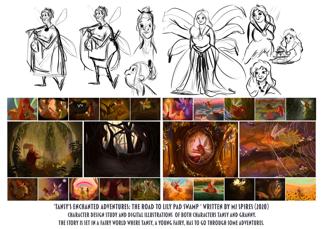 """""""tansy Enchanted Adventures"""" charcter study and book illustrations (2020)"""