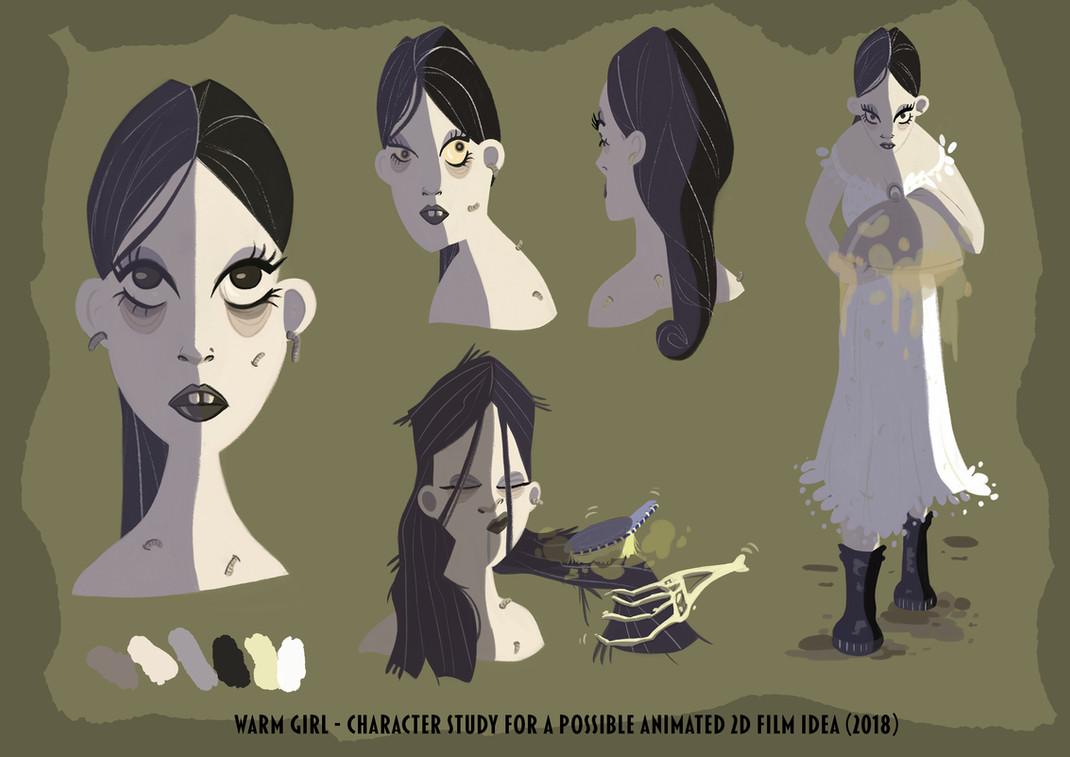 worm girl - character design