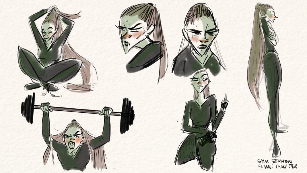 gym session - character design