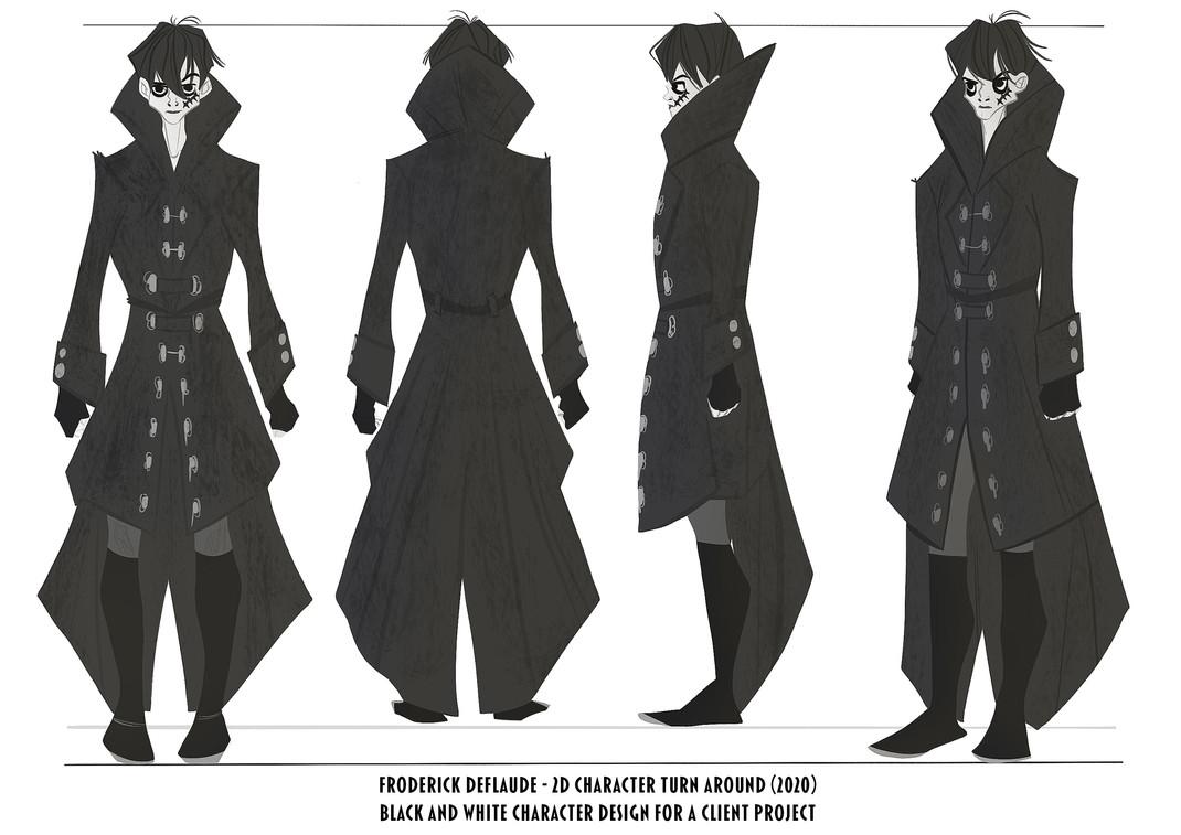 character design turn-around (2020)
