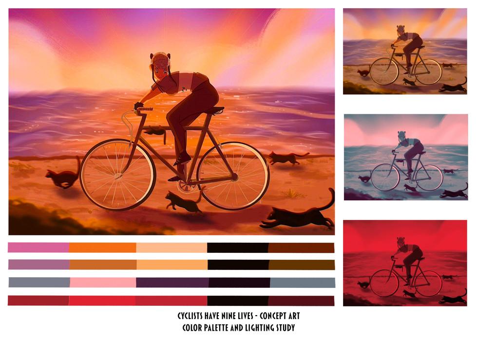 nine lives color study