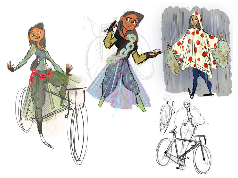 cycling character sketches 2