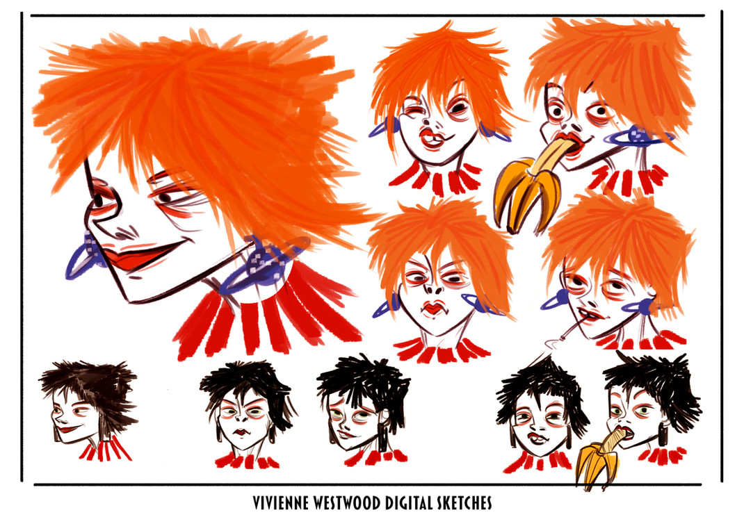 Vivienne Westwood character face study