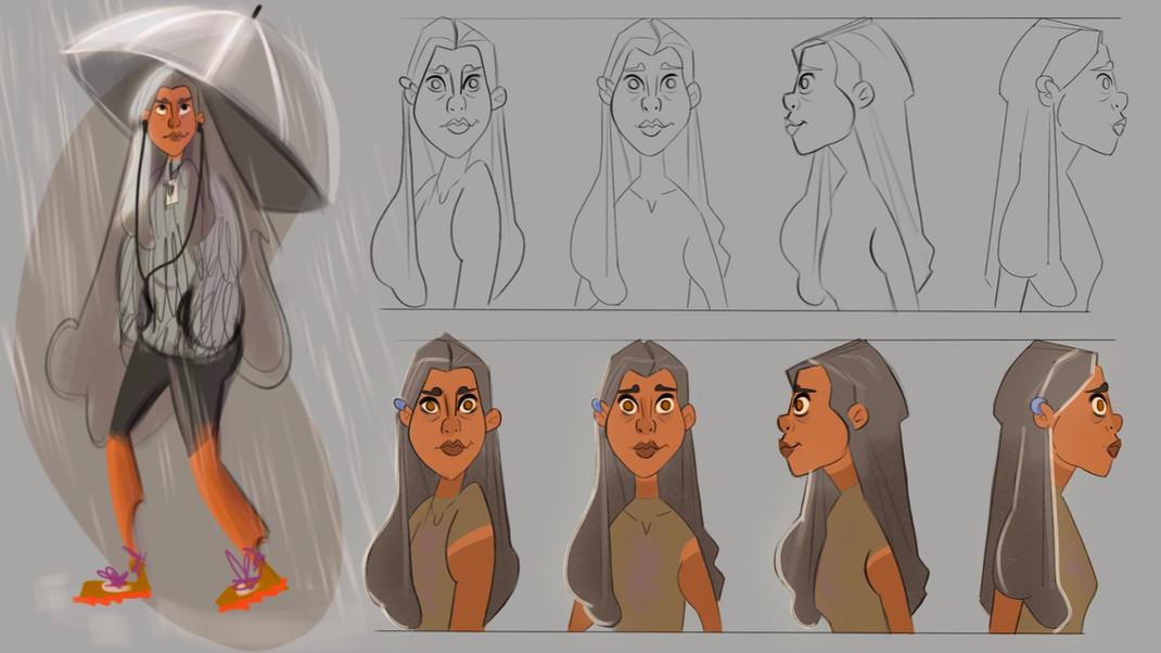 character design torso turn around