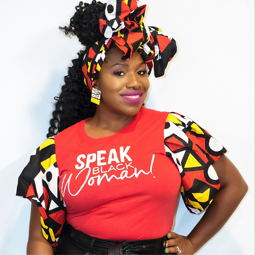 Speak Black Woman - Red Blouse