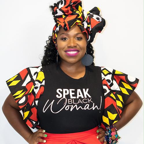 Speak Black Woman - Black Blouse