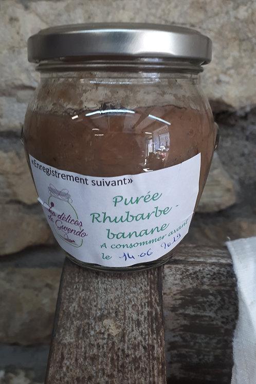 Compote de rhubarbe - banane Bio Bourgeon