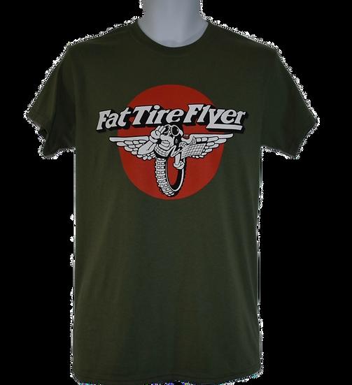 Fat Tire Flyer T shirt - Khaki