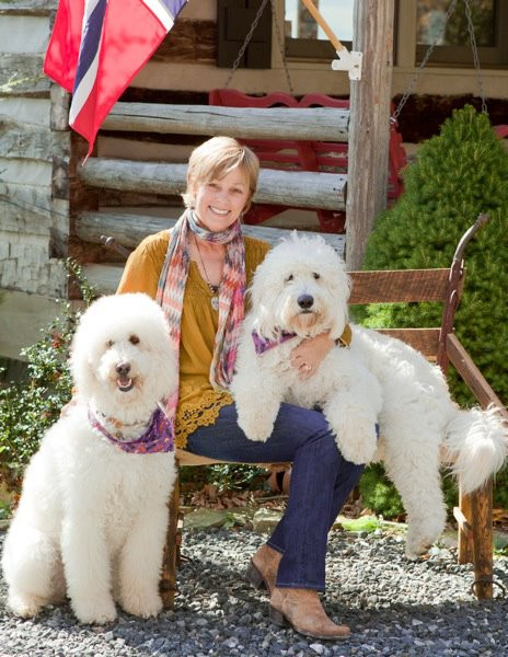 Susan with her dogs