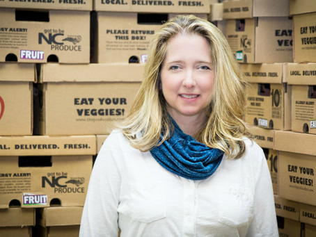 Courtney Tellefsen, founder of the Produce Box, is a voice and force for change