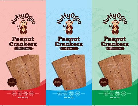 Organic Peanut Crackers (Mix pack 15 x 25g)