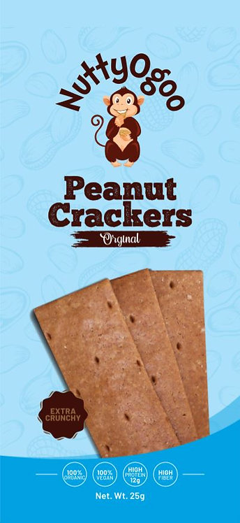 Organic Peanut Crackers (Original taster pack 3 x 25g)