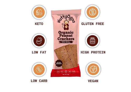 Chilli Flakes Organic Peanut Crackers Chili 15 x 25g