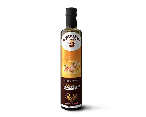 Organic Cold Pressed Peanut Oil (250ml)