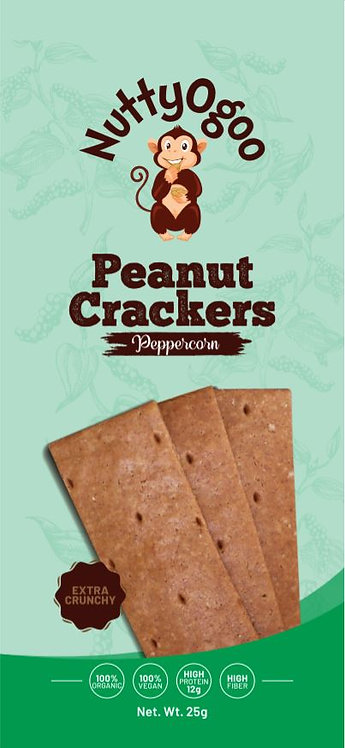 Organic Peanut Crackers Peppercorn (15 x 25g)