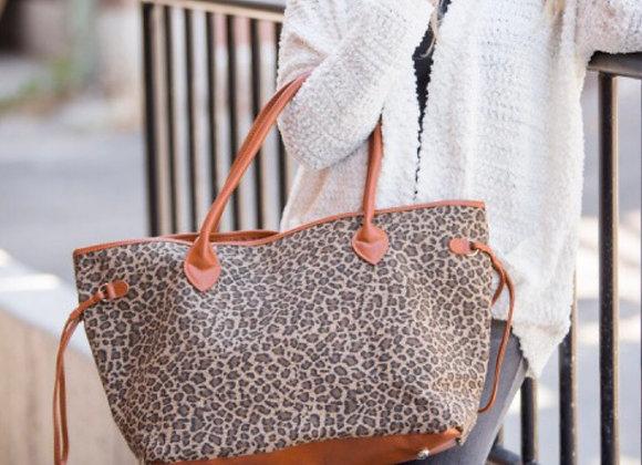 Leopard Cognac Tote