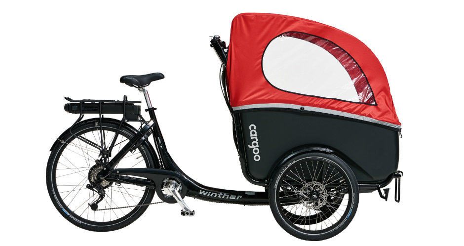 Winther | E-Cargoo |  the most flexible Cargo Bike up to 4 seats