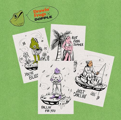 Drawin' Frogs A5 Artcard Set
