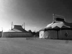 Circus tends in Montpiellier