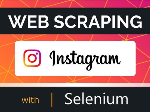 Web Scraping Instagram Photos with Selenium