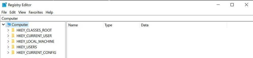 Registry Edit screenshot