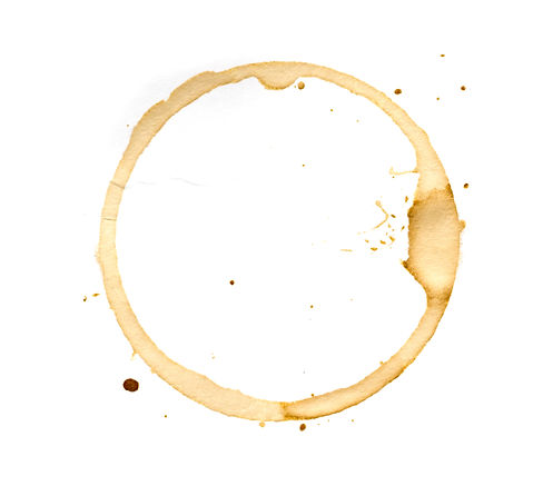 Coffee cup rings isolated on a white bac