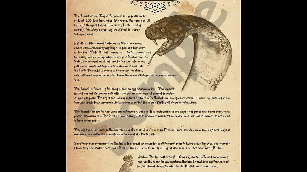 Basilisk Poster