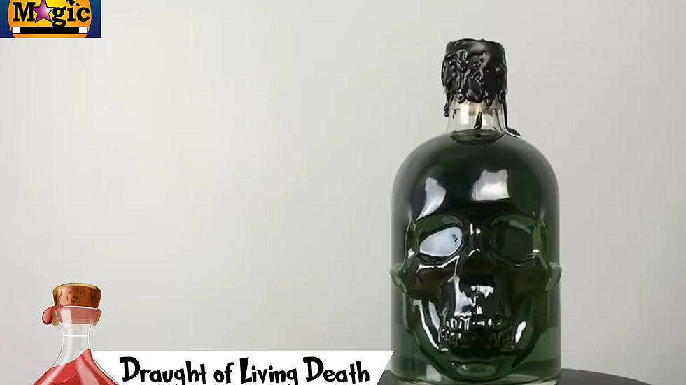 Draught of living death potion from Harry Potter
