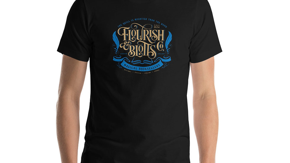 Flourish and Blotts colour Short-Sleeve Unisex T-Shirt