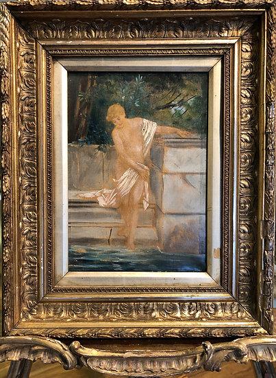 19th CENTURY  FRENCH SYMBOLIST BATHING NYMPH