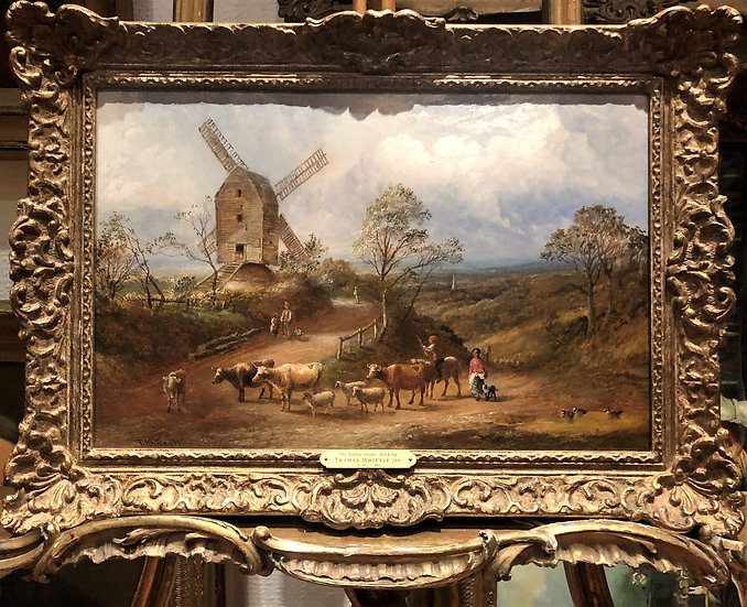 OIL PAINTING SIGNED OLD FINE MASTER PAINTER 19th Century BRITISH SCHOOL
