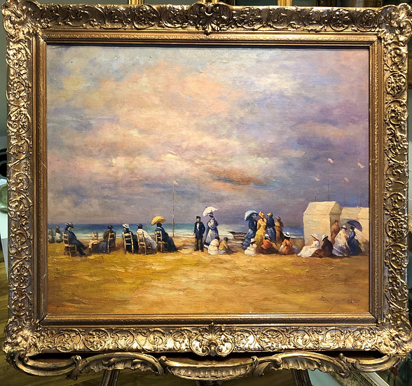 ORIGINAL OIL PAINTING Painted in a Style of Eugène Louis Boudin Early /mid 20th