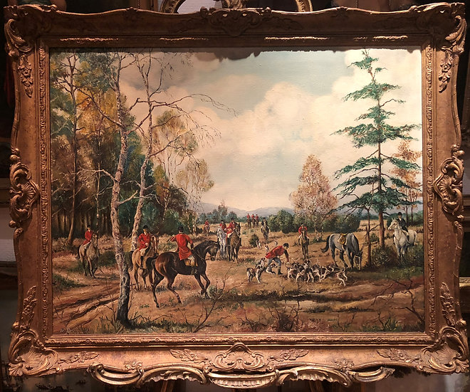 OIL PAINTING OLD LARGE BRITISH SCHOOL 19th CENTURY STYLE  BEAUTIFULLY EX